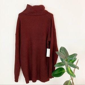 NWT Tobi   maroon turtleneck sweater dress (M)